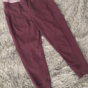 Lululemon Maroon Jogger Sweatpants size 12